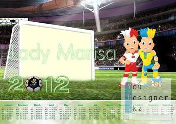 Календарь фоторамка - Евро 2012 / The calendar frame - Euro 2012
