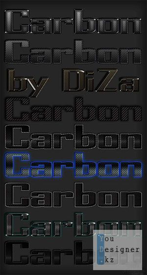 Стили для фотошоп - Карбон /  Carbon styles