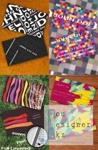 Шаблон - Бизнес карты (визитки) / Template - Business cards PSD