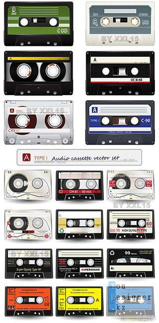 Audio cassette vector set