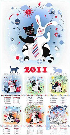 Cat & Rabbit calendar