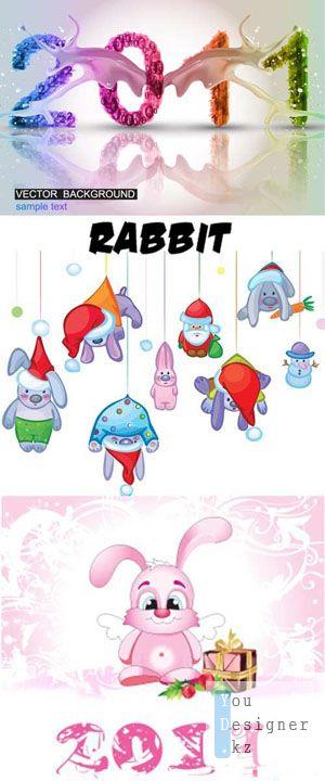 Векторные Кролики