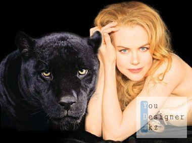 Шаблон для фотомонтажа - Черная пантера