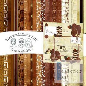 Скрап-набор - Шоколадный / Chocolate scrap kit