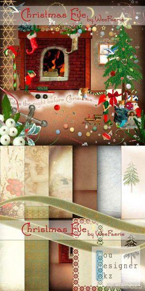 Скрап-набор - Канун Рождества / Scrap kit - Christmas eve