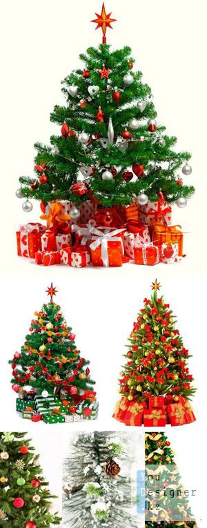 Клипарт - Елки / Clipart - Christmas tree