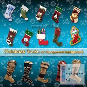 Скрап набор - Рождественские носочки / Scrap kit - Christmas socks