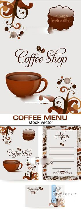 Coffee menu vektor