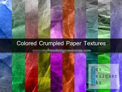 Текстуры - Помятая Разноцветная Бумага / Textures - crumpled colourful papers