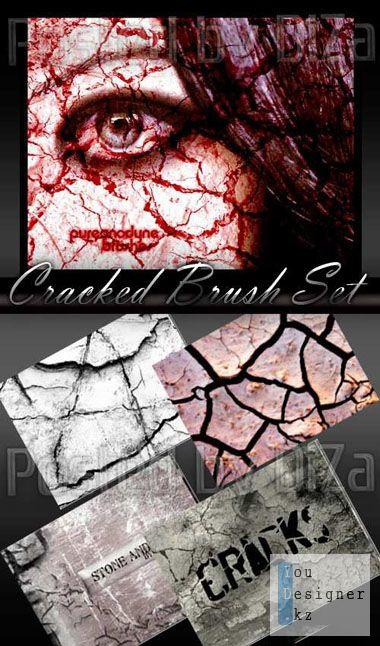 Кисти трещины, раны, царапины / Cracked Brush Set