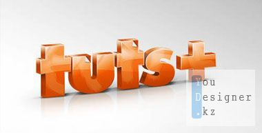 Glossy 3D Text with Photoshop