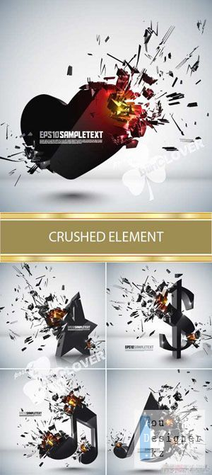 Crushed element