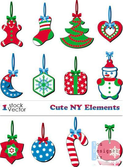 Cute NY Elements Vector
