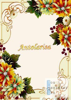 Цветочная рамка для фото / Flower photo frame