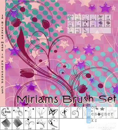 Кисти цветочные завитки 3 / Brush flower curls 3