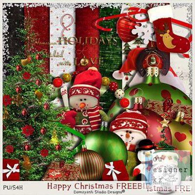 Cкрап-набор – Happy Christmas (Счастливое рождество)