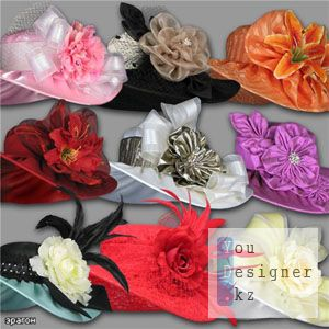 Clipart for Photoshop - Women hats