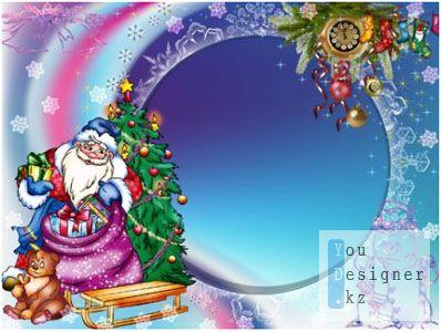 Рамочка для фото - Дед мороз и подарки