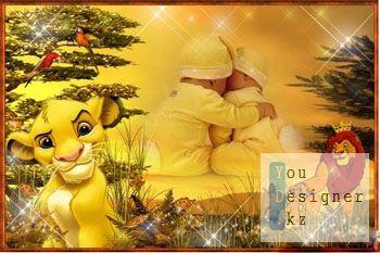 Детская фоторамка - Король Лев / Children photo frame - Lion King