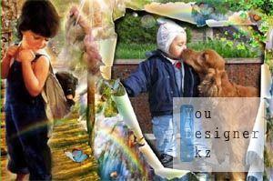 Детская фоторамка - Надежный друг / Children photo frame -  thick-and-thin friend