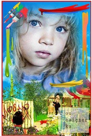 Детская фоторамка - Пишите лучше на email / Children's photo-frame - Write better on e-mail