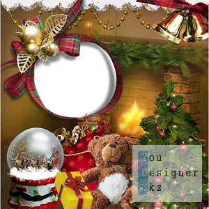 Детская рамка – Подарки под ёлкой / Children's frame - Presents under the tree