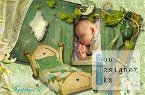 Детская рамка для фото - Сладких снов, малыш