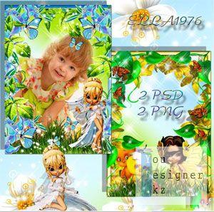 Детские рамочки для девочки - Маленькая фея (Часть2)