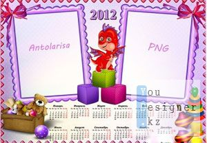 Детский календарь - рамка на 2012 год / Children's calendar - the frame for 2012