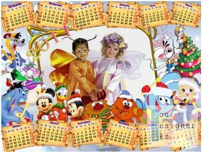 Календарь 2011 - Новогодний в PSD