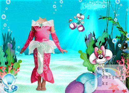 Детский костюм  - Русалка