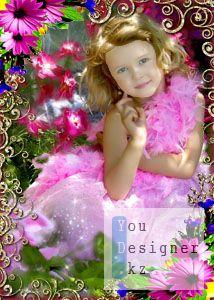 Детский шаблон для Photoshop – Маленькая леди