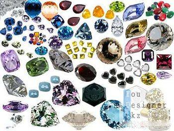 Клипарт - Драгоценные камни различной формы / Clipart - Precious stones of various shapes