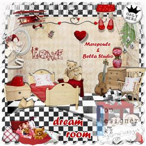 Скрап-набор Комната для Сновидений / Scrap kit Dream Room