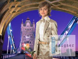 Детский шаблон для фотошоп - джентльмен