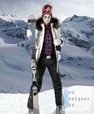 Шаблон для фотошопа - Экстремальная девушка / Template for photoshop - Extreme girl