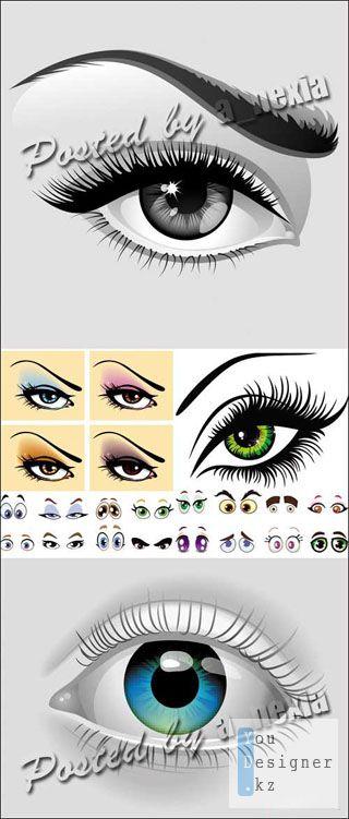 Векторная коллекция - Глаза / Eyes Vector Collection