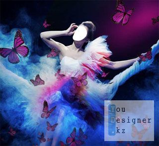 Female template for photomontage - Fantastic fairy