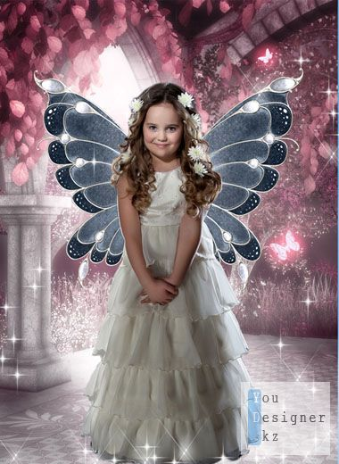 Template for a photomontage - Fairy