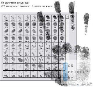 Кисти - Отпечатки пальцев / Fingerprint brushes