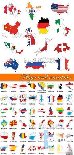 Векторный клипарт: Флаг и страны / Flags and countries