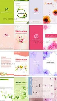 Flower invitation cards