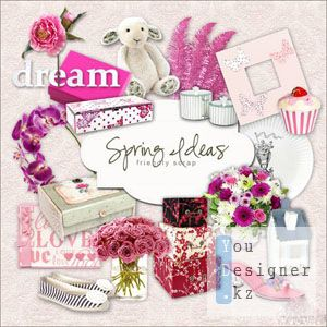 Скрап набор - Весенние идеи / Scrap kit - Spring Ideas