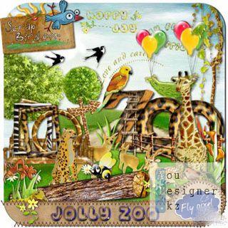 Скрап набор - Веселый Зоопарк / Scrap kit - Jolly Zoo