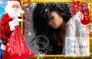 Фоторамка - Мешок с подарками / Photo-Frame - Bag with gifts