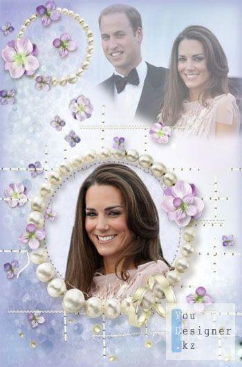 Цветочная рамка для фотошопа - Свадьба / Frame for Photoshop - Simple floral frame - Wedding