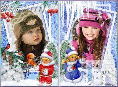 Детские рамки для Photoshop - Зимние