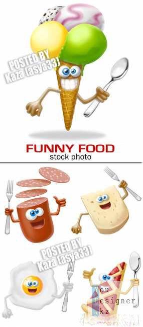 Клипарт: Funny food / Забавная еда