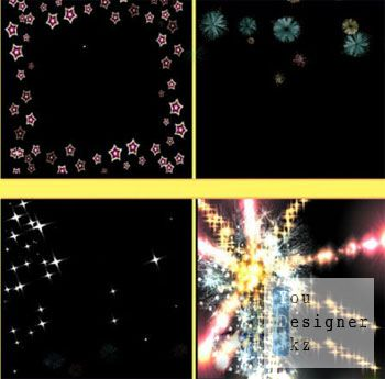 Футажи: футажи эффект - брызги цвета / Footages - color drops effect