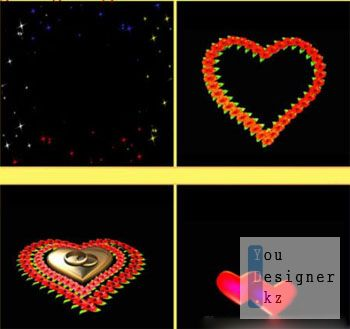 футажи:футажи эффект - одна любовь / Footage - One love